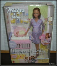 NRFB BARBIE RARE MATTEL 2002 HAPPY FAMILY PREGNANT MIDGE & NEWBORN BABY DOLL