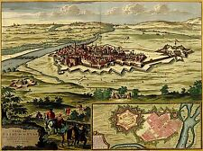 ART PRINT POSTER MAP OLD VINTAGE CASALE MONFERRATO ITALY CASTLE LFMP0844
