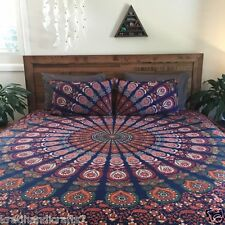 Indian Bed Cover Queen Size Bohemian Bedding Mandala Tapestry Bedsheets Cotton