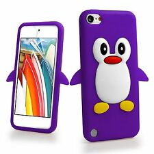 Colour Penguin Silicone Rubber Case Cover Skin For iPod Touch 6th Generation 6G