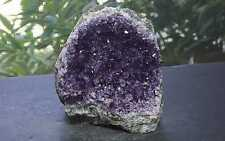 Amethyst Geode 2 Lb 6 Oz Purple Druzy Crystals Flat Cut Base 94386