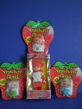 VINTAGE 1981 SMALL HONG KONG DOLLS SET OF 4 LOT STRAWBERRY BLONDE ROOT HAIR,CUTE