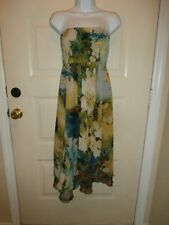 NWT NEW SUNNY LEIGH DRESS OR SKIRT LARGE LAYERED FLORAL WATER COLOR