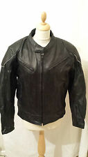 Bikers gear Australia motorbike biker leather jacket chest 42 black Rock