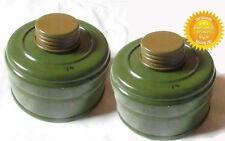 2 Charcoal Filters for Soviet Russian Military Gas mask GP-5 40mm SALE