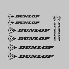 8x Dunlop Motor cycle/bike calcomanía de pegatinas gráficos Kit + Logo