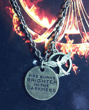 Hunger Games Mockingjay Fire Burns Single Chain Necklace- Carded (HGJW-61)
