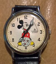 Mickey Mouse Lorus Quartz By Seiko Hands Watch W/ Retro Sub Dial