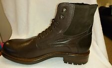 Men's boots real leather fur line inside size 10 Rrp £200