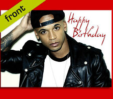 ASTON MERRYGOLD JLS BIRTHDAY CARD Top Quality Repro Autograph Signed A5