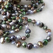 """61"""" 5-6mm Multi Color Baroque Freshwater Pearl Necklace BPPO Fashion Jewelry U"""