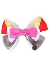 Disney Alice In Wonderland White Rabbit Cosplay Hair Bow Tie Hair Clip Gift NWT!