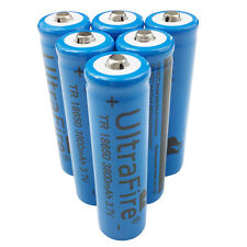 6X 18650 3800mah Li-ion 3.7V Rechargeable Battery for Ultrafire Flashlight