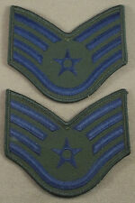 US Air Force Subdued Large Sleeve Rank Insignia Staff Sergeant / New Pair