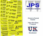 Electrical Labels - WARNING CAUTION DANGER PERIODIC INSPECTION VOLTAGE