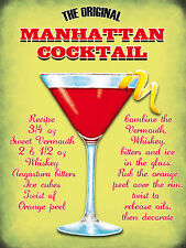 The Manhattan Cocktail, Pub, Bar & Restaurants Novelty Fridge Magnet
