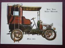 POSTCARD 1903 WHITE CAR - PORT ERIN MUSEUM