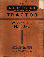 NUFFIELD VINTAGE UNIVERSAL TRACTOR WORKSHOP MANUAL  1954