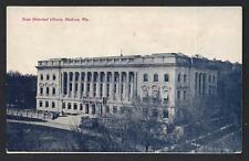 1908 pm State Historical Library Madison Wisconsin WI Antique Postcard