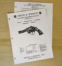 Smith & Wesson K-38 Combat Masterpiece Model 15 Revolver Manual - #SW8