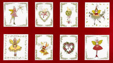 Christmas Fairy Cotton Fabric Michael Miller Pixywood Squares - TRIMMED PANEL