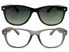 Bifocal Reading Glasses and Bifocal Sunglasses for Men and Women 2.0 Gray