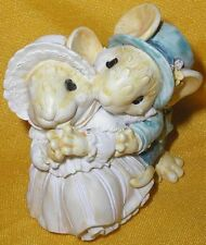 1991 Ganz Little Cheesers Parents of the Bride Wedding Figurine Mouse 05512 CUTE