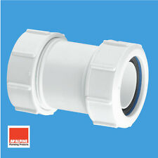 """Mcalpine Multifit Universal Coupler For 40mm 1-1/2"""" Waste Pipe Connector T28M"""