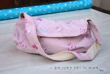 Hecho a Mano Rosa Linda Pijama Medialuna Bolso de Mano Invierno diseños con topstiching