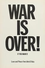 "JOHN LENNON & YOKO ONO ""WAR IS OVER"" ORIGINAL 1969 PROTEST POSTER"