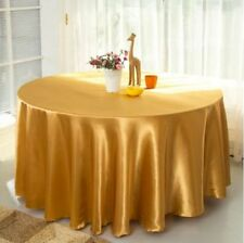 "10PCS 120"" Round Table Linen Cloth Banquet Wedding Satin Tablecloth 21 Colors HQ"