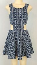 Lucca Couture Cut Out Mini Dress Size Medium Blue NWT