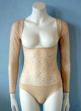 Flesh Cosmic Body Stocking, Brief/Sleeves for Belly Dance, Costumes, Large