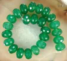 """5x8mm Green Emerald Gemstone Faceted Abacus Loose Beads 15"""""""