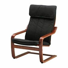 New IKEA POANG Armchair with Alme Black Chair cushion