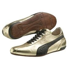 Puma King Black Label Collection Re Luxe Gold Shoes Sz 10 McQueen