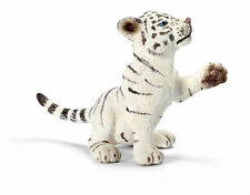 Schleich 14385 White Tiger Cub Playing Wild Animal Toy Model - NIP