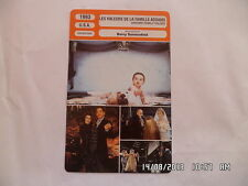 CARTE FICHE CINEMA 1993 LES VALEURS DE LA FAMILLE ADAMS