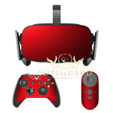 SopiGuard Carbon Red Skin Film Protector for Oculus Rift Headset Remote Xbox
