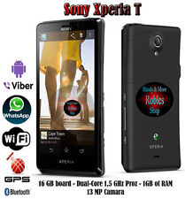 "Sony XPERIA T 16gb Dual Core (Senza SIM-lock) WLAN GPS 3g 13mp 4,6"" HD BRAVIA bene"