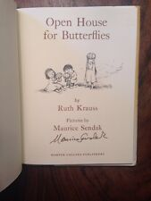 Open House For Butterflies SIGNED By Illustrator Maurice Sendak