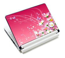 "Pink Floral Laptop Sticker Decal Skin Cover Protector For 14"" 15"" 15.6"" Notebook"