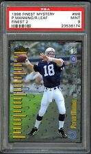 PEYTON MANNING~1998 FINEST MYSTERY #M6 GRADED PSA-9 MINT ROOKIE RC FOOTBALL CARD