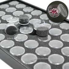 Empty Nail Art Display Tray Glitter Rhinestone Decro Storing Box Case Tool #361