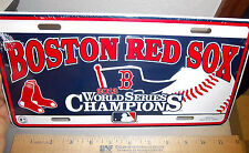 boston red sox 2013 World Series Champions metal License Plate, made in the USA