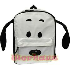 "Peanuts Snoopy 3D Plush Ears 16"" School Backpack, NEW"