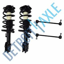 Driver Passenger Side Complete Front Strut Assembly + 2 Front Sway Bar End Links