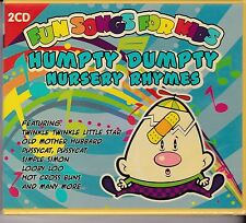 HUMPTY DUMPTY - NURSERY RHYMES - FUN SONGS FOR KIDS on 2 CD's - NEW -