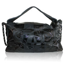 Chanel Black Lambskin Quilted Shiny Leather No. 11 Hobo Bag with SHW Chain
