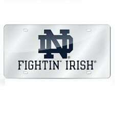 Notre Dame Fighting Irish Mirrored Laser Cut License Plate Laser Tag
